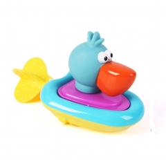 Bath Toy Safe Driving Boat Bathtub Fun Toy with Water Wheel Bird one size