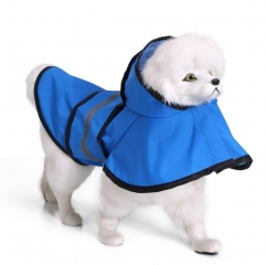 Pet Dog Slicker Raincoat Reflective Pet Poncho Fits All Size Dogs blue M