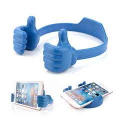 Thumbs-up Phone Stand, Silicone Adjustable Mount for Tablets Smart Phones blue one size