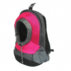 Pet Carrier Backpack Small Dog Cat Travel Front Pack Shoulder Bag for Outdoor pink l
