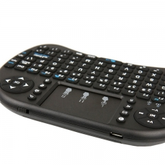 Handheld Mini Wireless Keyboard 2.4G With Mouth Touchable Pad for PC Android TV Black one size