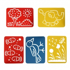 "Drawing Painting Cartoon Animals Plants Templates Rulers 11""x8"" Set of 4 muti-color one size"