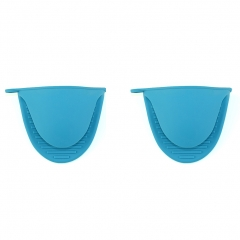 Silicone Pot Holder Oven Mini Mitt Cooking Pinch Grips Pack of 2 blue one size