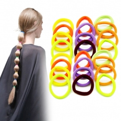 Seamless High Elastic Hair Bands Ties Women Girls Ponytail Holder Random Color muti-color *24