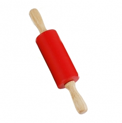 Non-Stick Rolling Pin for Mini Size Wood Handle Rolling Dough, Baking, Multi-Color 9 inch red one size
