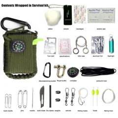 Outdoor Survival Kits 29 Accessories Emergency Survival Pod Kit for Emergencies green 1