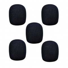 Foam Mic Cover Handheld Microphone Windscreen, Black, Pack of 5