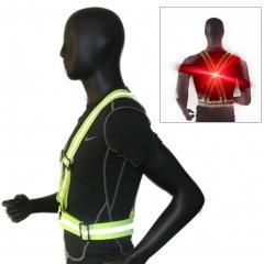 Reflective Vest Set Adult Adjustable LED Vest, Slap Band,Key Chain High Visibility Sports Gear Outdoor 1