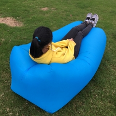 SHUAILV Air Inflatable Lounger Chair Beach Sofa Portable Waterproof for Camping, Backyard Hangout blue