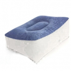 Inflatable Foot Rest Pillow Travel Flight Pillow Cushion Leg up for Home Office Relax blue 1