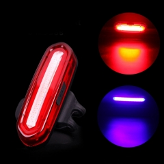 Bicycle LED USB Rechargeable Light Cycling Front Rear Tail Waterproof Lamp 4/6 Modes white one size
