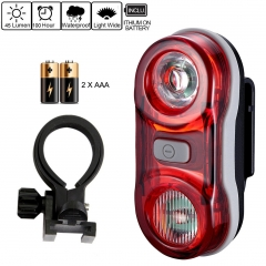 BikeTail Light - Safety Zone Rear Tail Bike Light with 2 LED and 3 Light Mode red 1