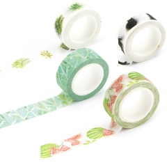Washi Tape Set Masking Tape Art Crafty Rolls Decorate DIY Adhesive Paper Tape 15mmX7mm Floral/Leaf garden 1
