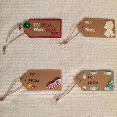 Kraft Paper Gift Tags Brown Rectangle Craft Hanging Tags Price Tags Labels 100 PCS 1 100pcs