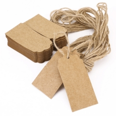Kraft Paper Gift Tags Brown Rectangle Craft 100 Feet Jute Twine for & Price Tags Labels 100 PCS 1 one size