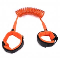 Baby Child Anti Lost Wrist Link Safety Harness Hand Belt Walking Strap Wrist Leash orange 1.5m
