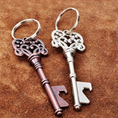 Bottle opener key 10PCS Bottle Openers Copper Party supplies Antique Outdoor Decoration silver 1
