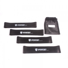 Sports Exercise Resistance Loop Bands for Workout & Physical Therapy, FREE Ebook & Online Video black set of 4