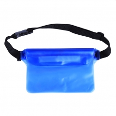 Waterproof Pouch with Waist Strap Dry Bag for phone for Boating Swimming Snorkeling Kayaking Beach blue one size