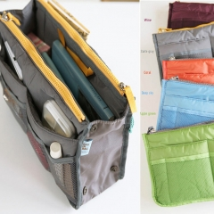 Travel Toiletry Bag Make Up Cosmetic Organizer Wash Bag Zippered Foldable Portable Case gray 1