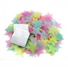 Luminous Stars Patch Home DIY Decor Party Decoration Fluorescent Patch Random Color Pack of 100 mix 1