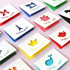 Greeting Card Half Fold  All Occasion  Birthday  Wedding Thank You Note 3.5in×2.5in  Envelopes muti-colors one size