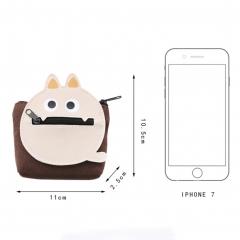 Coin Purse Pouch Bag  Cartoon  Little Monster  Portable Canvas  for Women Girls khaki one size
