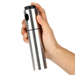 Silver Stainless Steel Olive Oil Spraying Bottle Vinegar Sprayer 135ml normal normal