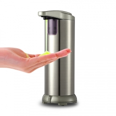 280ml Automatic Stainless Steel Sensor Soap Sanitizer Dispenser Touch-free for Kitchen Bathroom silver 280ML