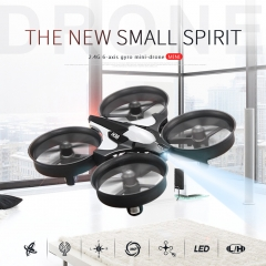 Mini Drone 4CH 6 Axis Headless Mode/Speed Switch/One Key Return RC Quadcopter RTF with LED Light blue H36