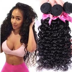 100% virgin Human Hair Weaving Wigs Deep Wave Peru Curly Hair Extension Natural Color Hair Weft black 8inch