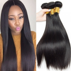 1pcs Top Quality Silky Straight  100% virgin Human Hair Weft Natural Black Straight Hair Extension black 8inch