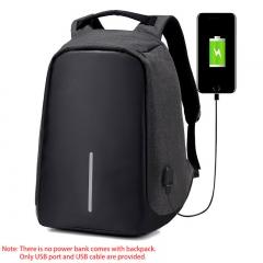 Fashion Men Multifunction USB Charging Laptop Backpacks For Teenager Anti-theft School Bag black one size