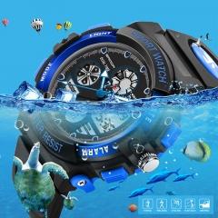 Fashion Children Sports Watches LED Quartz Digital Watch  Kids Waterproof Wristwatches For Gifts black free size