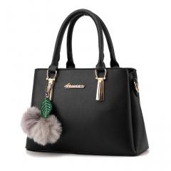 2017 Fashion Leather Handbags Solid Color Women Shoulder Bag  Ladies Messenger Bags Crossbody Bags black one size