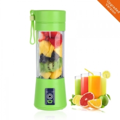 380ML Portable Blender USB Charger Fruit Juicer Cup Rechargeable Juice Blender and Mixer Green one size