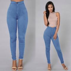 Sexy Women Skinny Stretch Denim Slim High Waist Trousers Leggings Jeans Pants Blue S