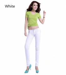 Fashion Women's Casual Skinny Leg Jeggings Pencil Pants Stretchy Jeans Trousers white s