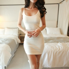 New Sexy Women Summer Casual Sleeveless Party Evening Cocktail Short Mini Dress white s