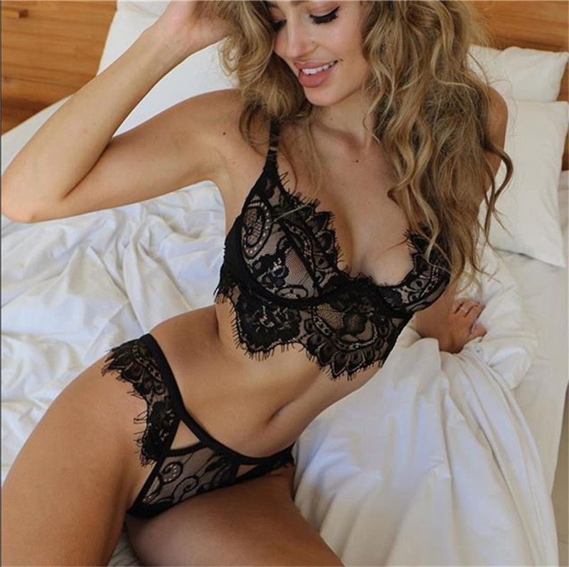 Women's Sexy Lingerie Babydoll Sleepwear Underwear Lace Dress G-string Nightwear black m 9