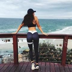 Women's Sports Gym Yoga Workout Mesh Leggings Fitness Leotards Athletic Pants black s