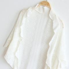 New Arrival Women Fashion Crochet Kimono Hollow Knit Tops Knitwear Coat Outwear Cardigan white one size