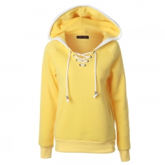 Autumn Street Fashion Hoodies Pullover Sweatshirt Vintage Women Hollow Out Long Sleeve Tracksuit yellow s
