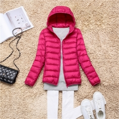 Top Brand Spring Autumn Women Parka Ultra Light Down Jacket Winter Hooded Coat rose s