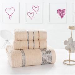 100% cotton towel set/High-quality Soft and comfortable face towel,bath towel brown 34*70cm1pcs