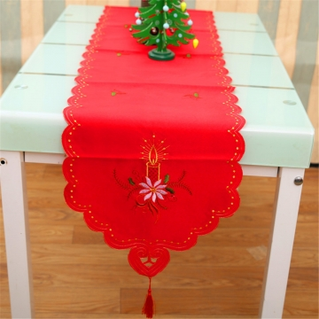 TEMPSA40*170cm Christmas Table Runner Holiday Wedding Party Tablecloth Xmas Banquet Event Decor Candle Regular