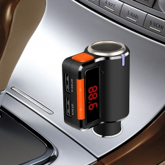 New Arrival Universal BC09 Bluetooth  Kit MP3 Player FM USB Car Charger for Mobile Phone black bc09