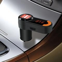 Bluetooth Car Kit Handsfree FM Transmitter Radio MP3 Player  Wireless  Adapter USB Charger black bc10