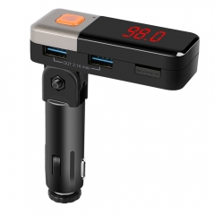 Bluetooth FM Transmitter USB Car Charger Universal  for Mobile Phone for Tablet for iPhone black bc11