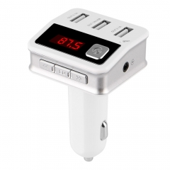 New Arrival BC12 Bluetooth FM Transmitter USB Car Charger for iPhone iPad Samsung white bc12
